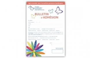 Le bulletin d'adhésion à l'association des Papillons Blancs de Pont-Audemer